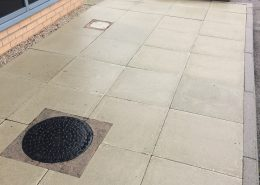 Office external pavement restoration after