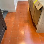 Quarry tile floor cleaning, sealing and polishing in Portishead, Bristol after