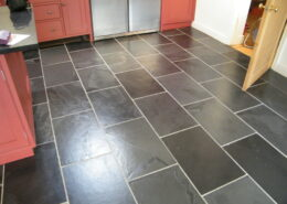 Slate floor cleaning in Abbots Bromley Near Rugeley, Staffordshire - after stripping, cleaning and sealing