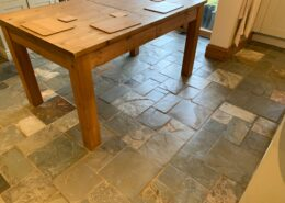 Slate floor cleaning, sealing and polishing in Dorridge, Solihull, West Midlands, after