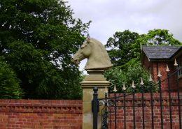 Stone Horses head pillar after
