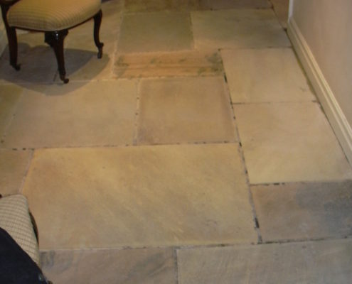 Stone floor after cleaning in Stafford Staffordshire