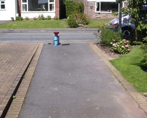 Tarmac Renovation in Holmes Chapel Cheshire - Before