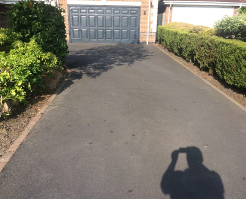 Tarmac renovation on driveway in Macclesfield, Cheshire before