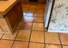 Terracotta floor and grout cleaning, Dorridge, Solihull, West Midlands, after