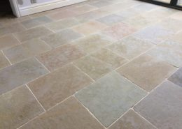 Textured Limestone floor in Penkridge Staffordshire after cleaning