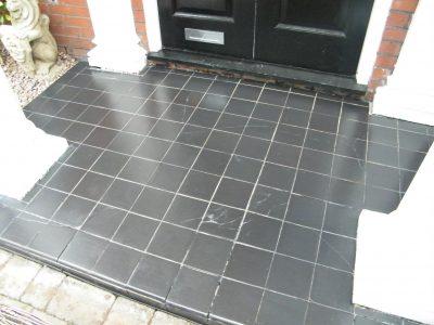 Tiled porch restoration after 2