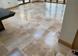 Travertine Floors Cleaned and Polished in Corntown, Bridgend, Vale of Glamorgan, Wales, after