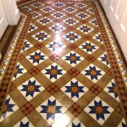 Victorian Hall floor in Stone after cleaning and sealing