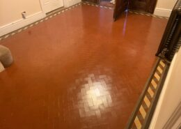 Victorian Minton floor cleaning, sealing and polishing in Four Oaks, Sutton Coldfield, West Midlands after