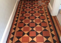 Victorian hall floor in Ashbourne Derbyshire after